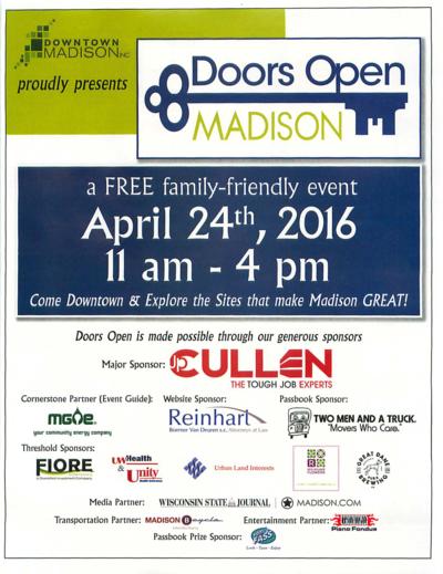 Doors Open Madison Poster